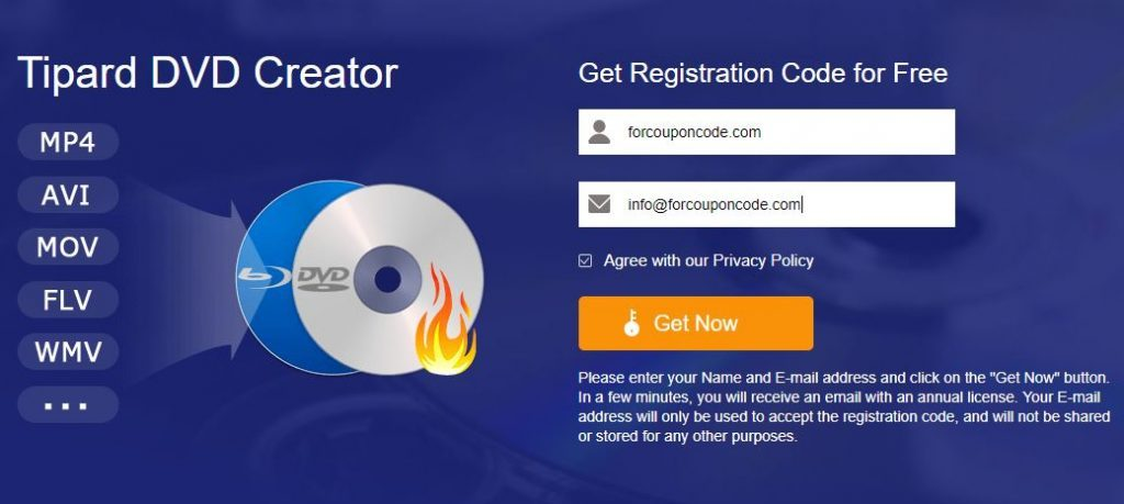 Tipard DVD Creator Giveaway Discount Coupon Codes
